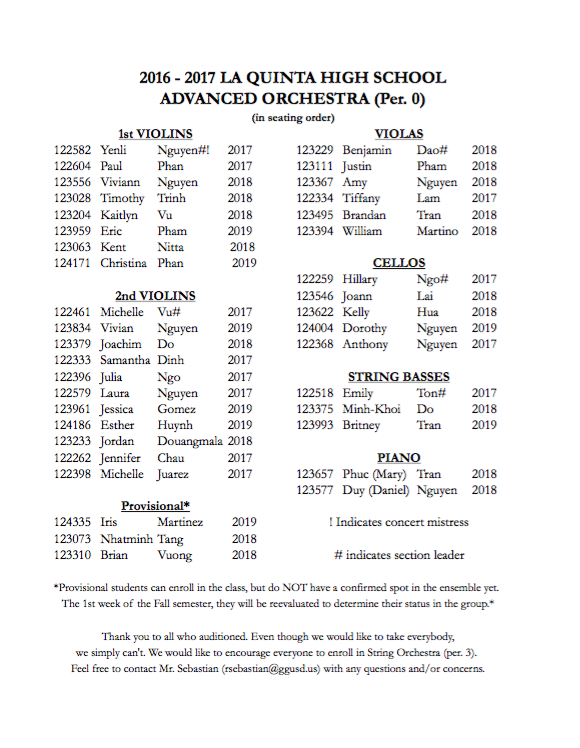 adv orch roster 16-17