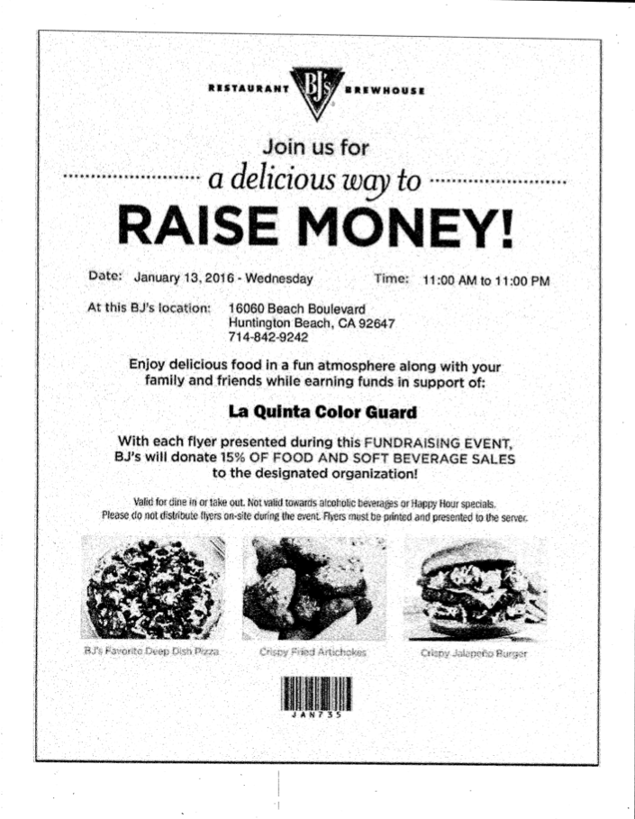bjs restaurant fundraiser flyer - 01-13-16
